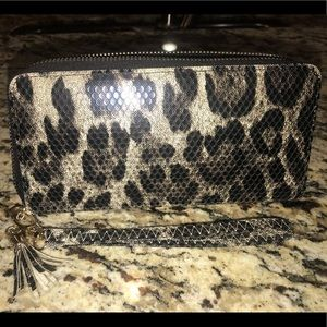 Handbags - Animal print wristlet!
